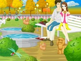 Decorated-in-a-game-park-with-a-couple