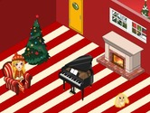 Decorated-in-a-game-room-with-a-christmas-tree