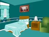 Decoration-game-in-a-blue-room
