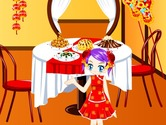 Decoration-game-in-a-restaurant-for-chinese-new-year