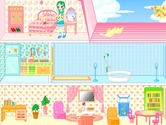 Decoration-game-with-a-doll-s-house