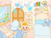Decoration-game-with-a-girl-disguised-as-a-teddy-bear