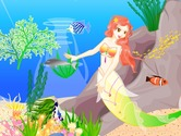 Decoration-game-with-a-mermaid-under-the-sea