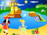 Decoration-game-with-a-pirate-and-a-little-girl
