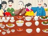 Game-table-decoration-with-a-chinese-family